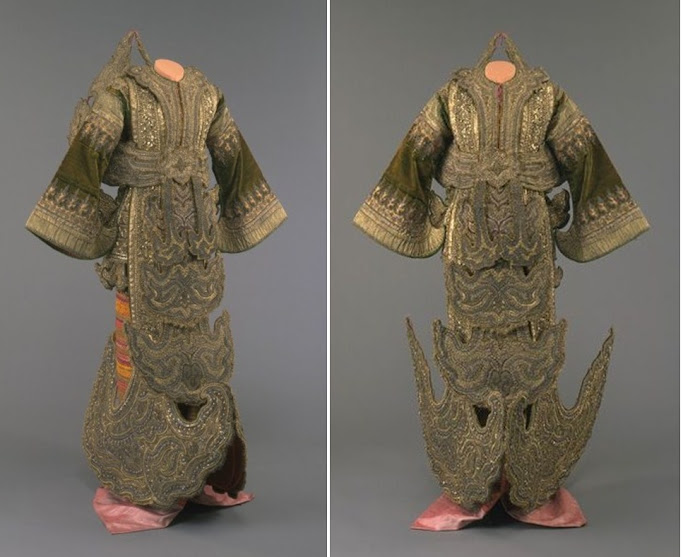 Burmese lady's court dress, late 19th century