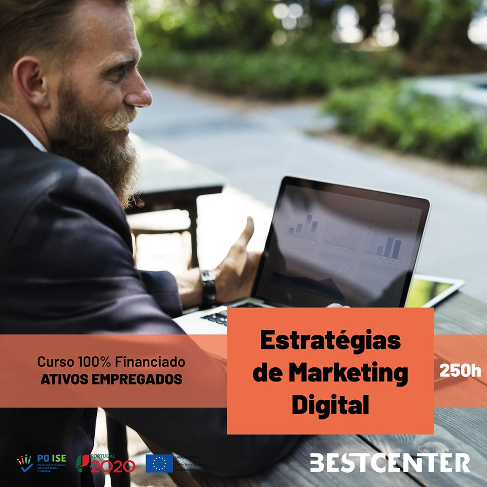 Curso financiado de ESTRATÉGIAS DE MARKETING DIGITAL – Viseu
