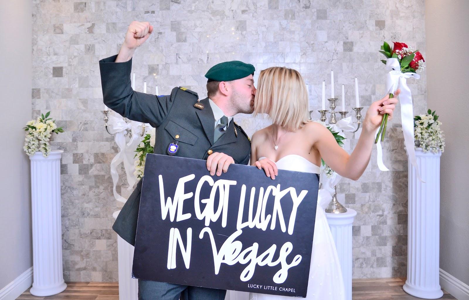 Lucky couple in Vegas