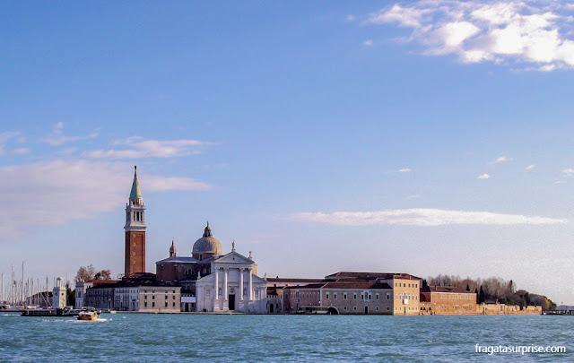 Veneza: a Igreja de San Giorgio Maggiore vista da Praça de São Marcos