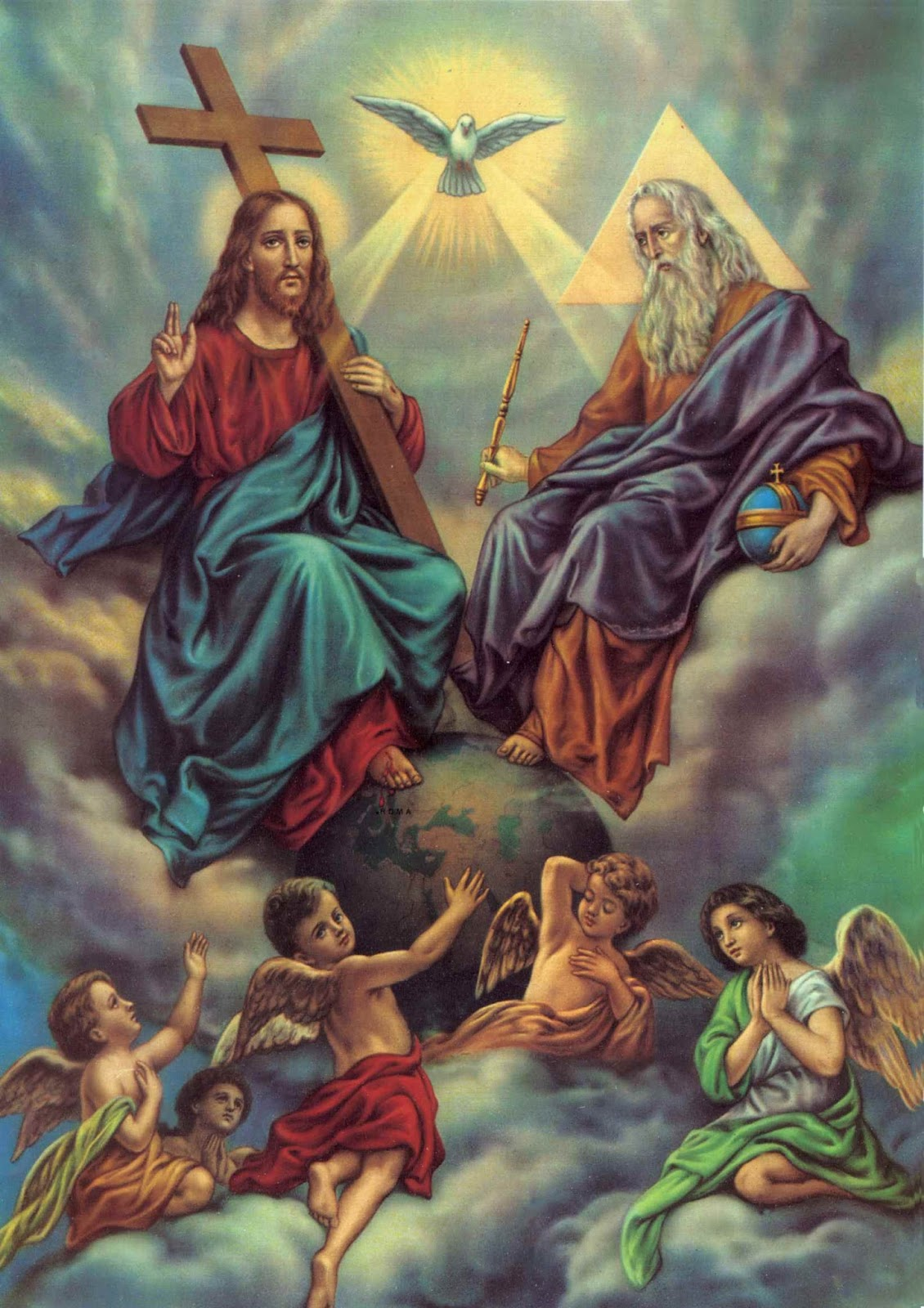 This inner voice is the voice of all three persons of the trinity of God, because they are all one.