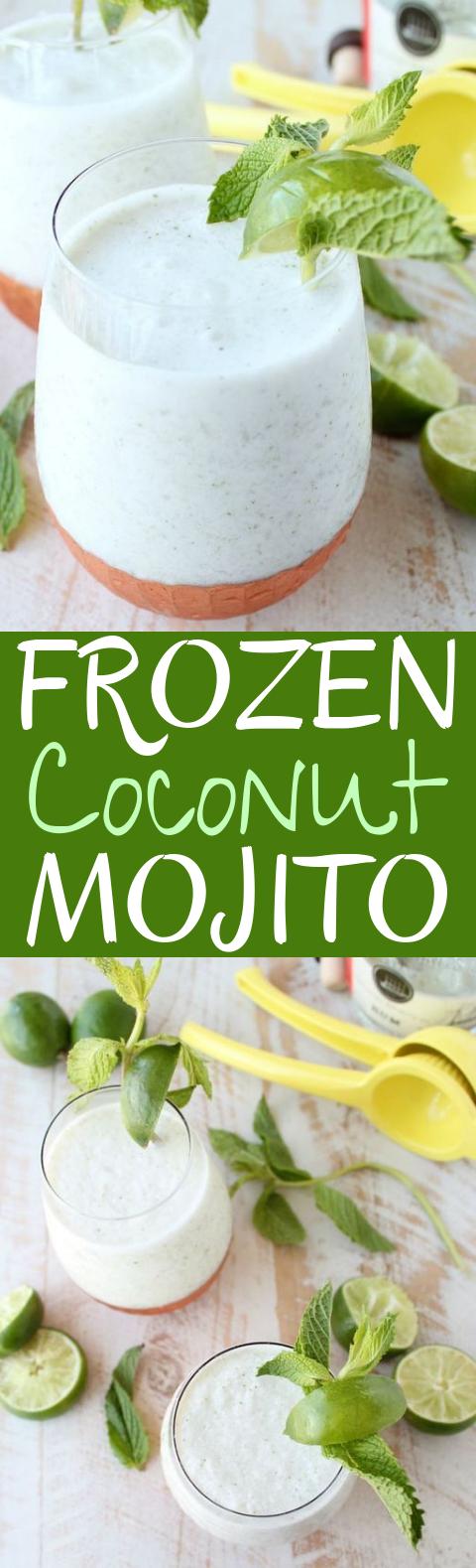 Frozen Coconut Mojito #drinks #cocktails
