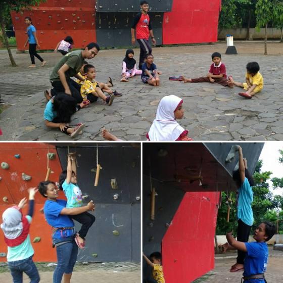 Panjat tebing anak Semarang