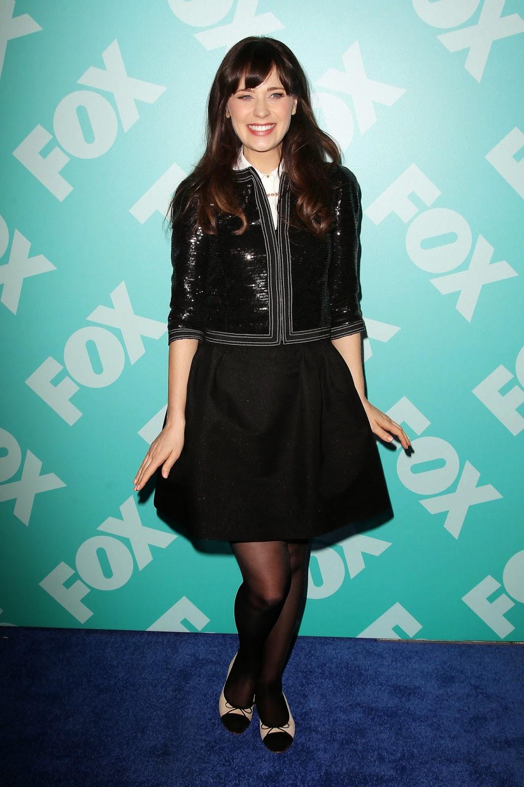 Red Carpet Dresses Zooey Deschanel Fox Upfronts 2013