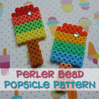 Crafty Marie Fun Summer Hama Perler Fused Beads pattern popsicle design kids craft