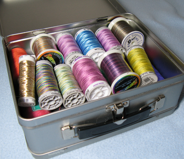 Unique Thread Storage Solutions... affordable, DIY ideas for storing your sewing thread ~ Threading My Way