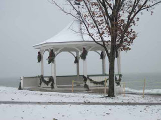 Gazebo Niagara-On-The-Lake in Winter.