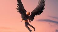 Boy Wings Fantasy Digital art 4k wallpaper