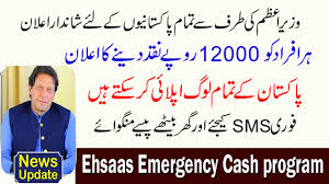 How to Apply for Ehsaas Emergency Cash Program in How to applying Payment 12000 Received.