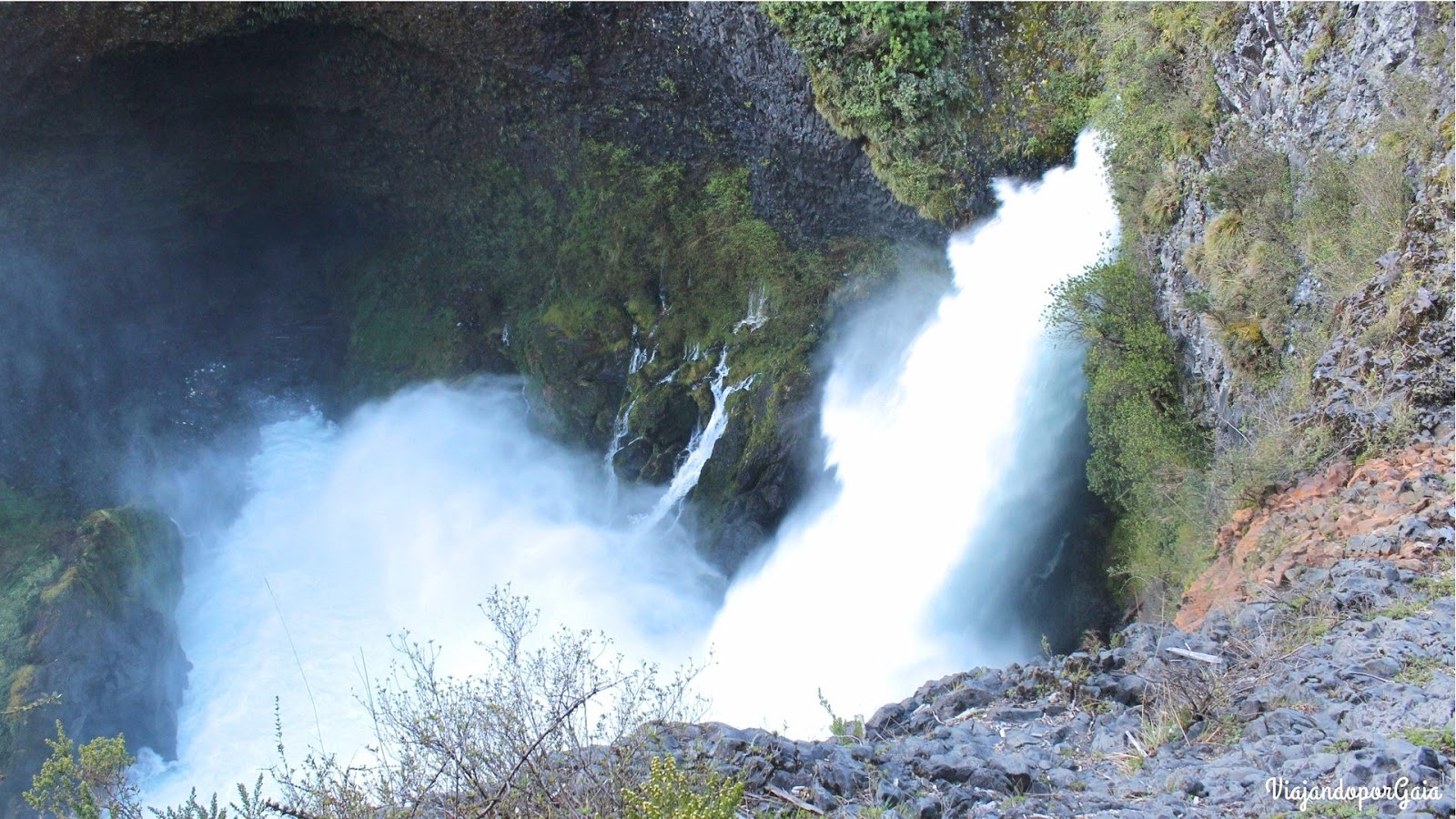 Salto Huilo Huilo, el más alto dentro de la Reserva.