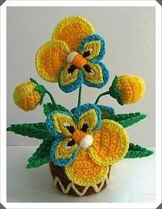 Tığ işi Çiçek Motifleri 1