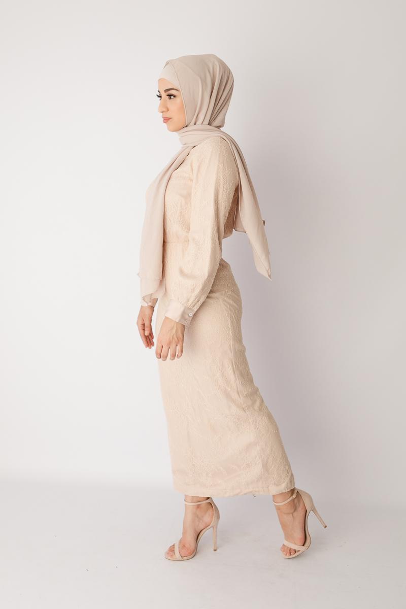lace dress muslimah baju lebaran