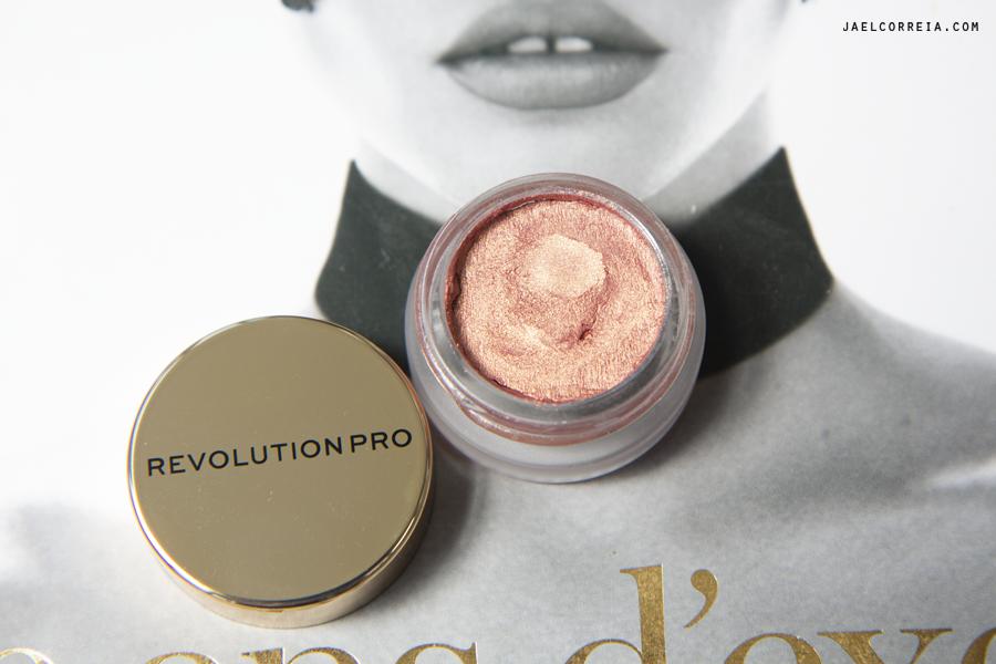 notino revolution pro makeup cream eyeshadow brass sombra creme makeup maquilhagem jael correia blog review golden peach