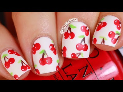 Pretty Nail Art Cherry