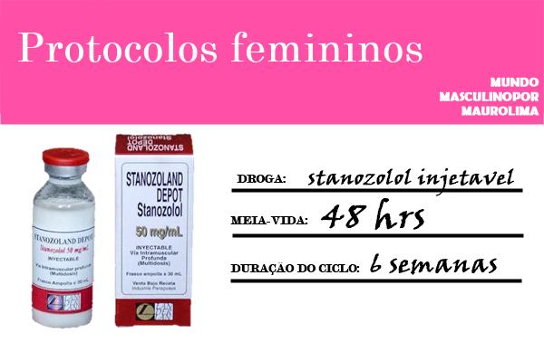 Anabolics #75 Ciclo Feminino  Stanozolol Injetavel Curto
