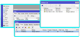 Hasil konfigurasi IP pada Bridge