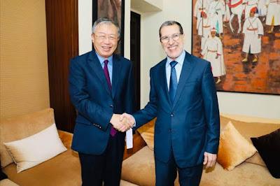 عاجل وبالصور...العثماني يستقبل سفير الصين بالرباط ويتسلم منه رسالة الوزير الأول الصيني