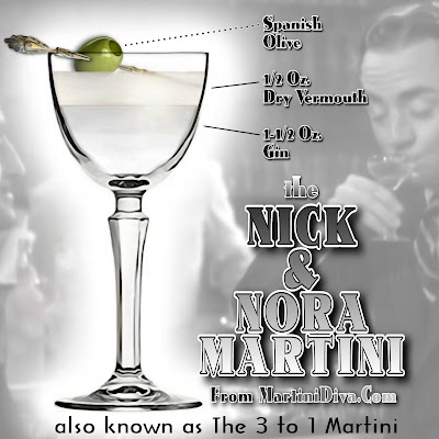 3 to 1 Martini  aka Nick & Nora Martini