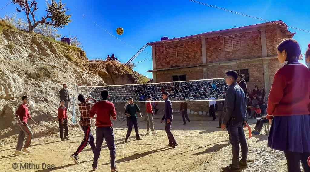 Silgadhi volleyball game