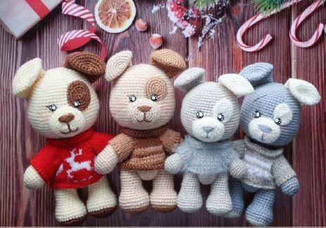 CAGNOLINO BAU BAU | Padrões de animais de crochê, Urso de crochê ... | 324x463