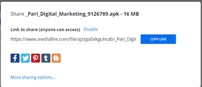 MediaFire से File किसी को कैसे Share करें?