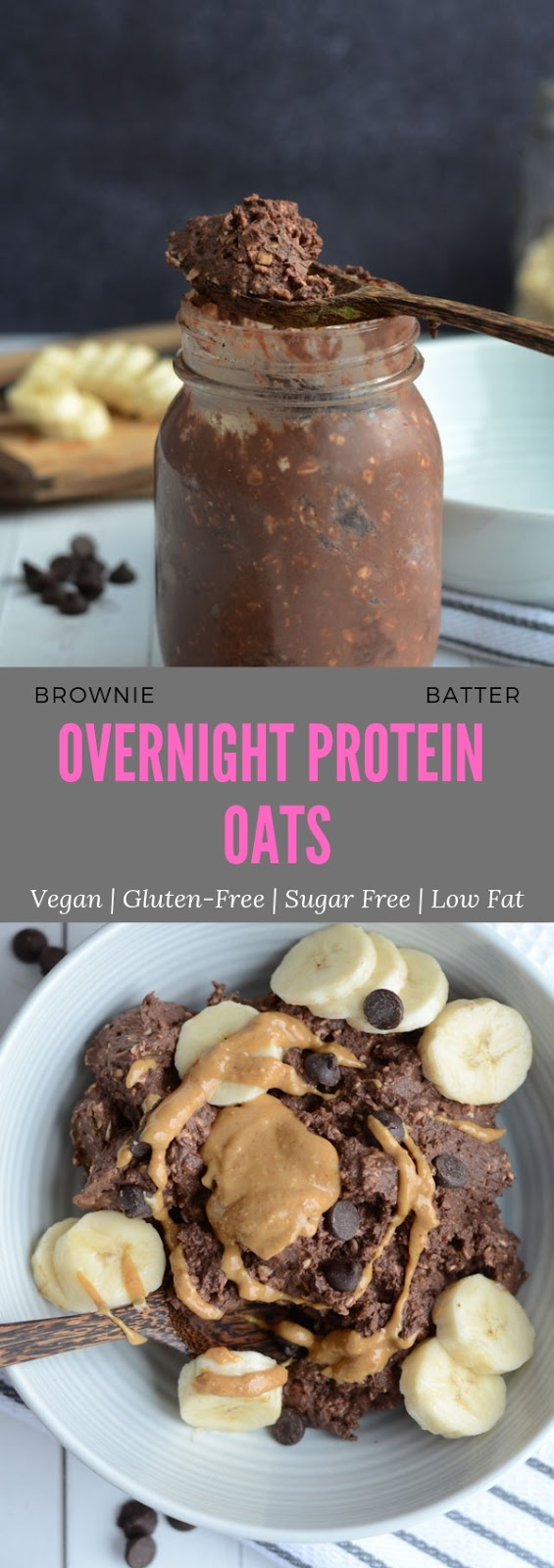 BROWNIE BATTER OVERNIGHT PROTEIN OATS #breakfast #healthy #brownie #batter #overnight #protein #oats
