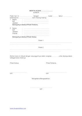 Download Template Buku Berita Acara Administrasi Sekolah Gerbang