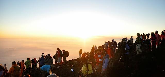 Catch the sunset on Mt. Fuji