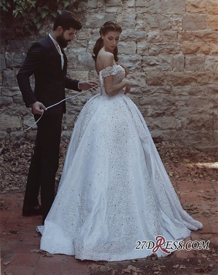 https://www.27dress.com/p/glamorous-off-the-shoulder-lace-appliques-ball-gown-wedding-dress-107068.html
