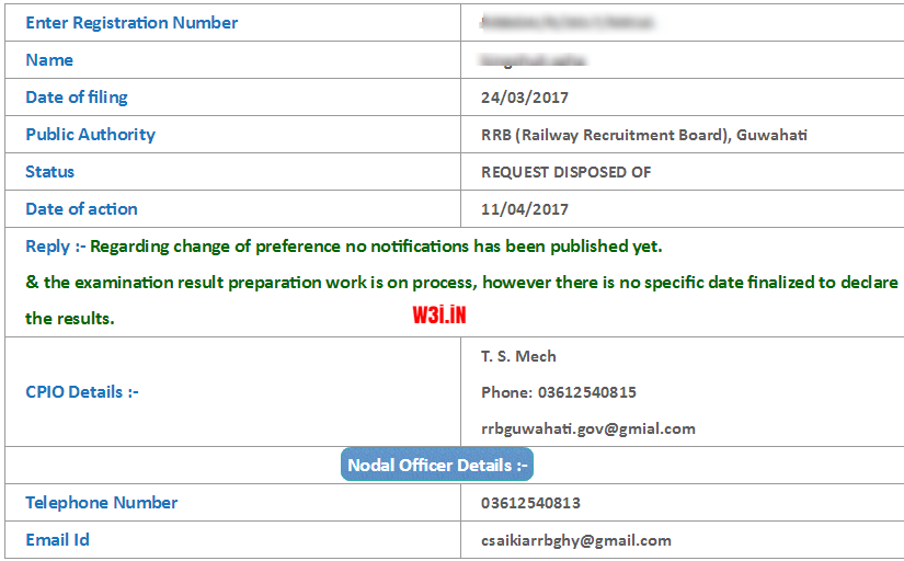 RRB NTPC Post Preference Change RTI Reply, RRB NTPC Post Preference, Railway Post Preference