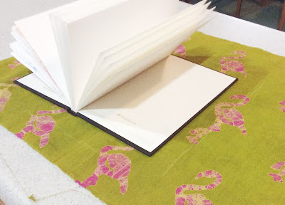 Making easy fabric covered books