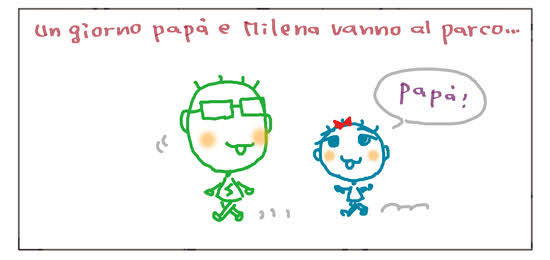 Un giorno papà e Milena vanno al parco... Papa'!