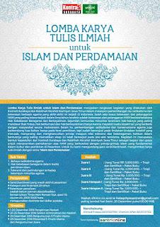 Lomba Karya Tulis Untuk Islam dan Perdamaian