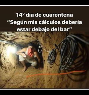Minero buscando un bar en cuarentena
