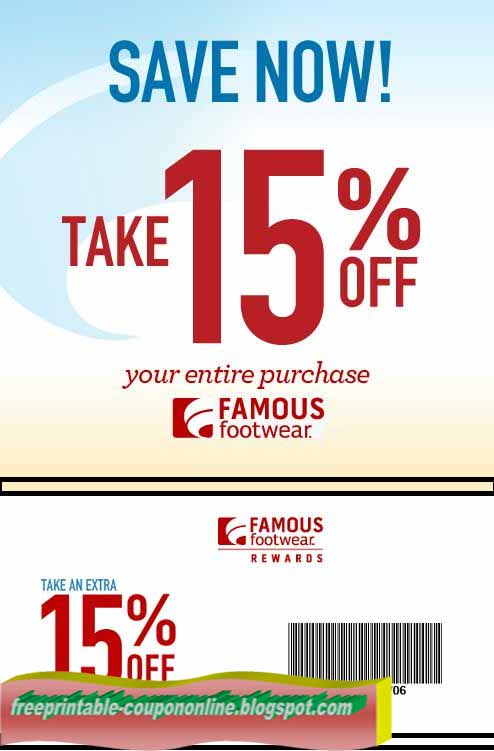 Famous footwear coupon codes december 2018