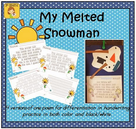 my snowman melted writing activity for thanksgiving