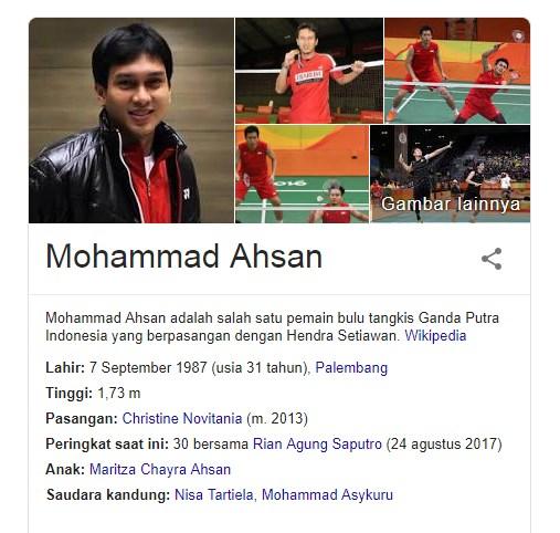Fakta Menarik Mohammad Ahsan Atlet Bulu Tangkis Indonesia