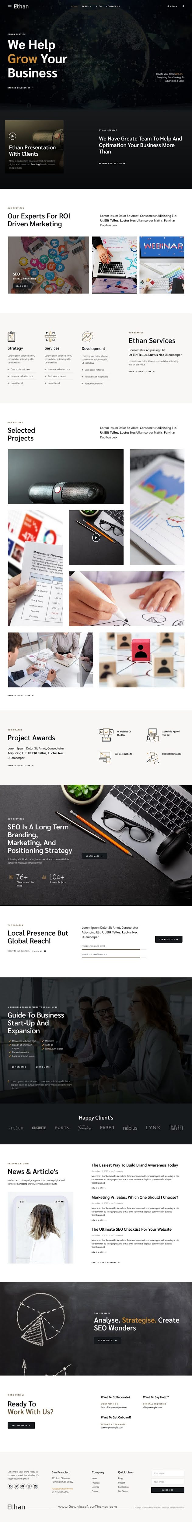 Online Marketing Agency Elementor Template Kit