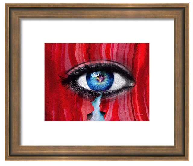 Cry Me A River by Mark Taylor, eye art, Beechhouse Media, Fine Art America,