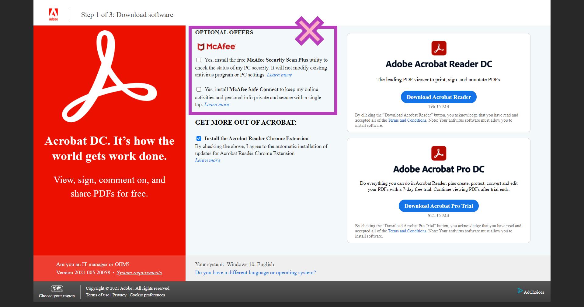 step 1 get adobe reader free