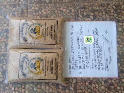 Benih padi yang dibeli   ARSHAKA Sragen, Jateng.    (Sebelum packing karung).