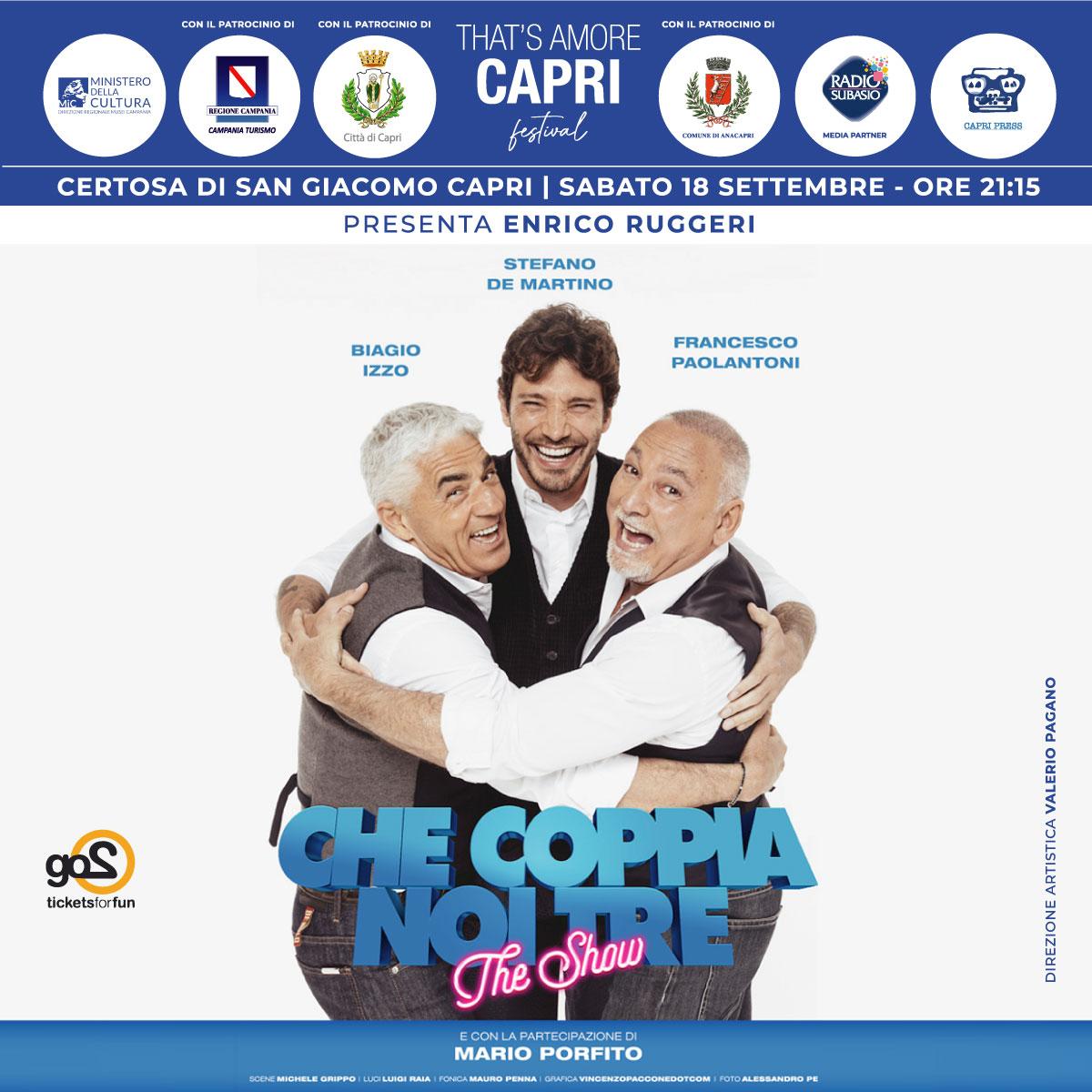 Vico Equense On Line: Con That's Amore Capri tornano sull'isola azzurra i grandi  eventi Al via il progetto di solidarietà That's Amore Capri