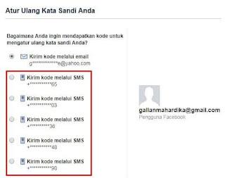 cara mengatasi lupa kata sandi Facebook dengan menggunakan alamat email