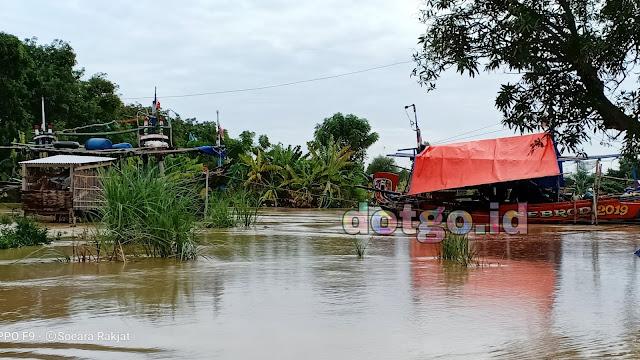Banjir Sungai Ciasem yang meluap di Desa Muara dan Tanjungtiga Blanakan Subang