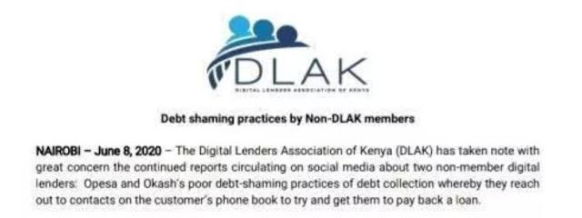 Digital Lenders Association of Kenya (DLAK)