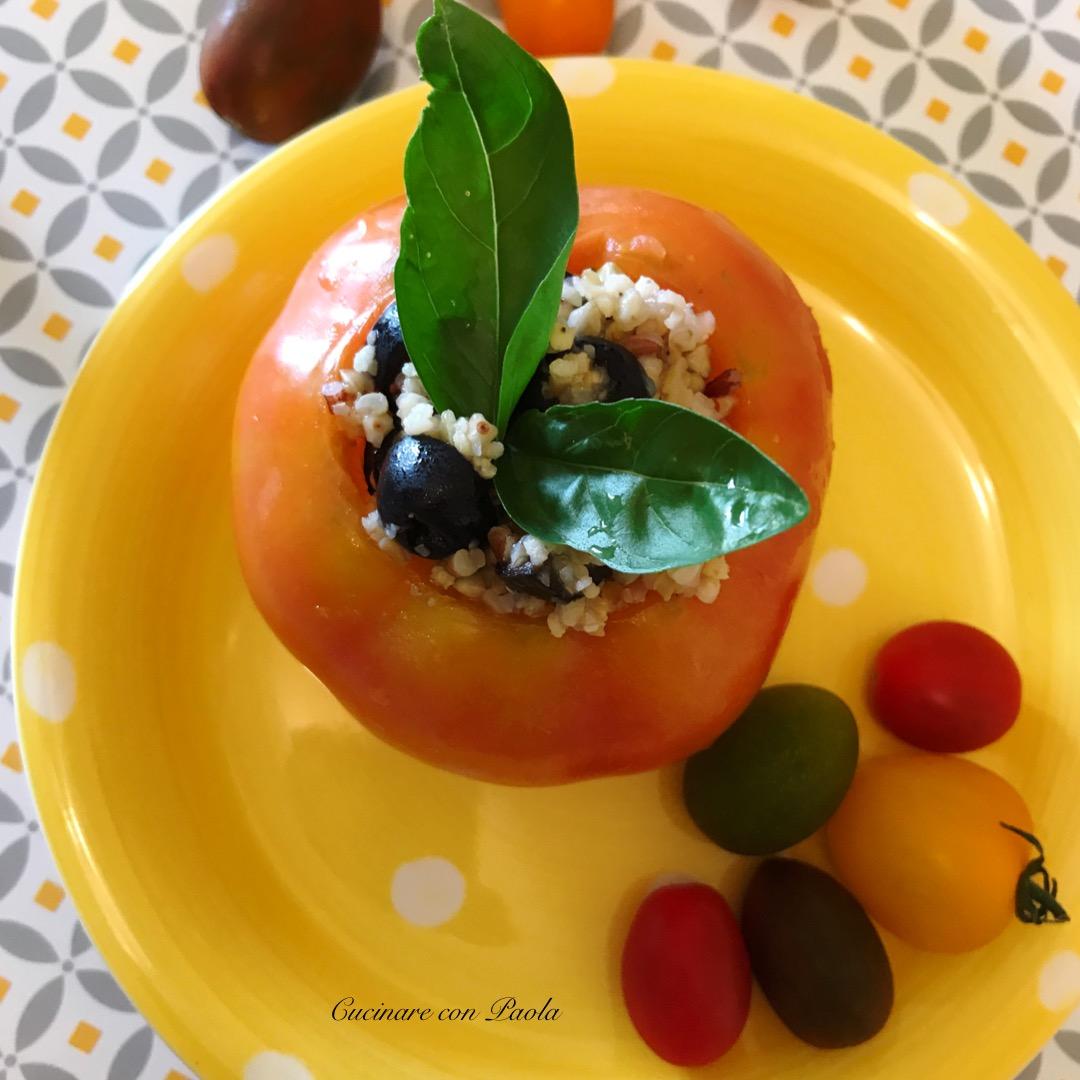 Pomodori ripieni con grano saraceno – Cucinare con Paola
