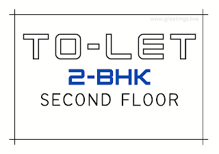 Tolet board 2bhk in second floor A4 Size images free download