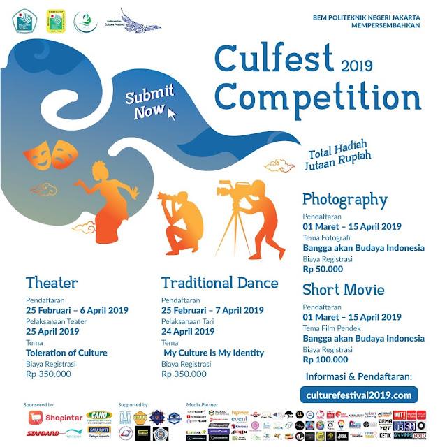 Lomba Teater Culfest Competition 2019 SMA Sederajat se-Jabodetabek