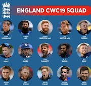 England Squad for ICC Cricket World Cup 2019