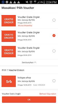 cara mendapatkan voucher gratis ongkir dari shopee